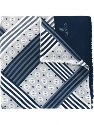 Платок с геометрическим узором Lanvin Vintage. Цвет: многоцветный