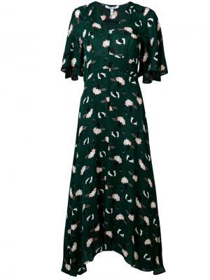 Платье с абстрактным принтом Derek Lam 10 Crosby. Цвет: зелёный