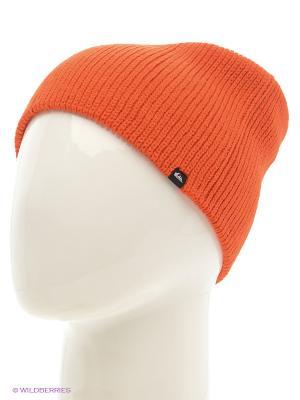 Шапка Quiksilver. Цвет: оранжевый