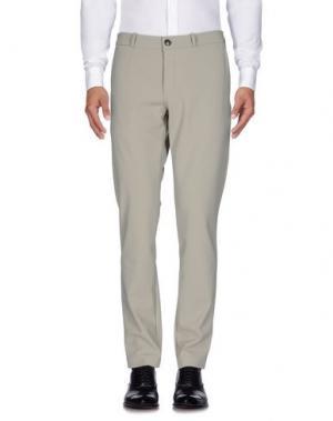 Повседневные брюки RRD. Цвет: голубиный серый