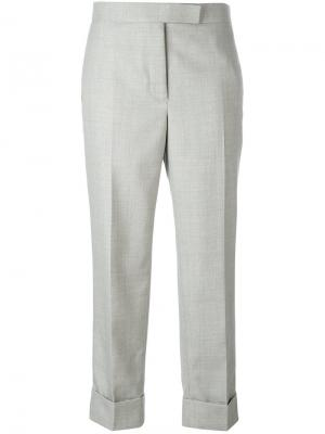 Tailored cropped trousers Thom Browne. Цвет: серый