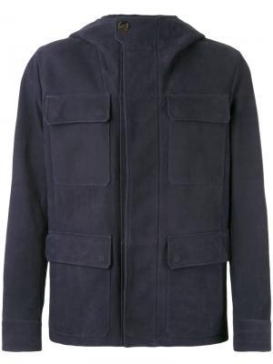 Куртка с накладными карманами Berluti. Цвет: синий