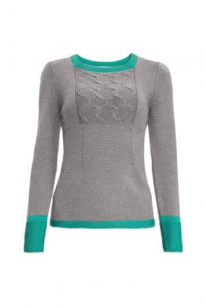 Джемпер из шерсти с шелком 154533 Sweet Sweaters. Цвет: серый