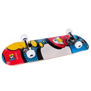 Скейтборд в сборе детский  Kiddy Comic Multi 28 X 8 (20.3cm) Fun4U. Цвет: синий