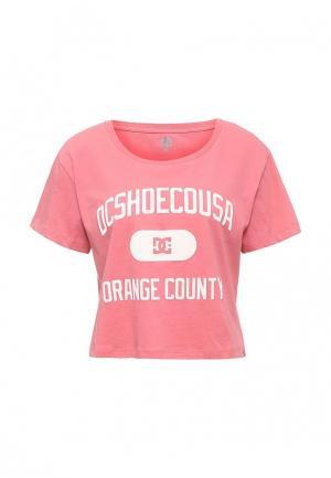 Футболка DC Shoes. Цвет: розовый