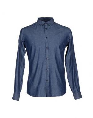 Джинсовая рубашка BILLTORNADE. Цвет: синий