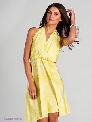 Платье Blue deep. Цвет: желтый, белый