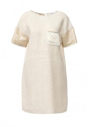 Платье Elmira Markes. Цвет: бежевый
