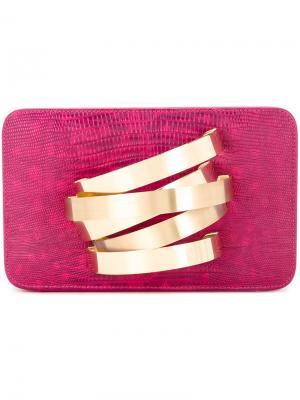 Клатч Coil Cuffbox Rula Galayini. Цвет: розовый и фиолетовый