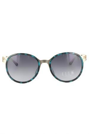 Очки солнцезащитные ELLE. Цвет: зеленый