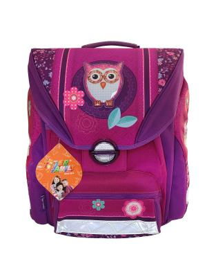 Ранец школьный FAVOURITE COLLECTION OWL Tiger Family. Цвет: розовый