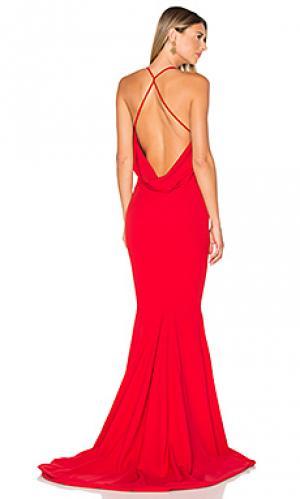 Вечернее платье barthelemy Gemeli Power. Цвет: красный