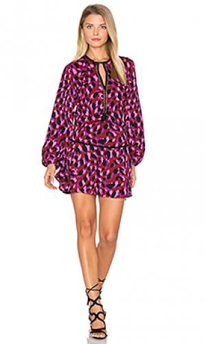 Мини платье с принтом titti Karina Grimaldi. Цвет: фиолетовый