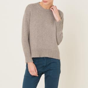 Пуловер с круглым вырезом POMANDERE. Цвет: бежевый