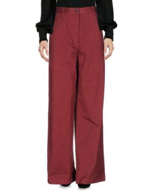 Повседневные брюки BARENA. Цвет: красно-коричневый