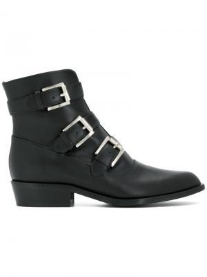 Ботинки с пряжками Gianna Meliani. Цвет: чёрный