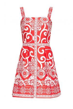 Платье из хлопка 167838 Paola Morena. Цвет: разноцветный