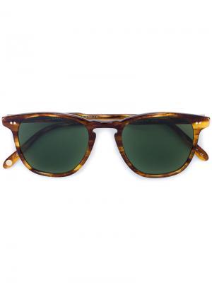 Солнцезащитные очки Van Buren W 49 Garrett Leight. Цвет: коричневый