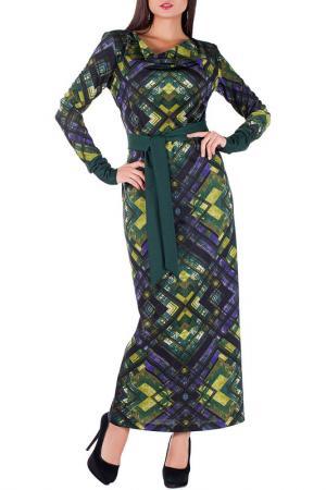 Платье Mannon. Цвет: зелено-салатовый