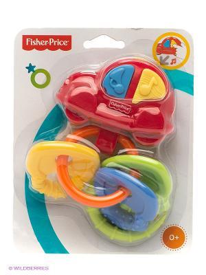 Погремушка-прорезыватель Музыкальная машинка Fisher-Price Mattel. Цвет: красный, желтый, синий