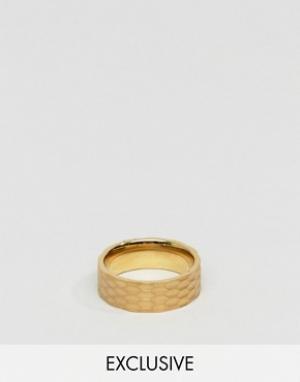 Seven London Золотистое кольцо. Цвет: золотой