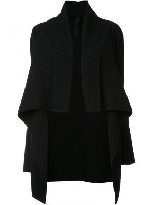 Жаккардовое драпированное пальто Gareth Pugh. Цвет: чёрный
