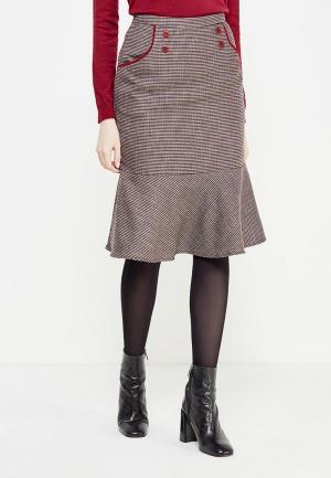 Юбка Classik-T. Цвет: коричневый