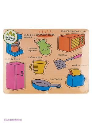 Деревянная игрушка рамка-вкладыш Фабрика Фантазий. Цвет: бежевый