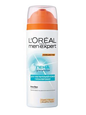 Пена для бритья Men Expert, 200 мл L'Oreal Paris. Цвет: белый