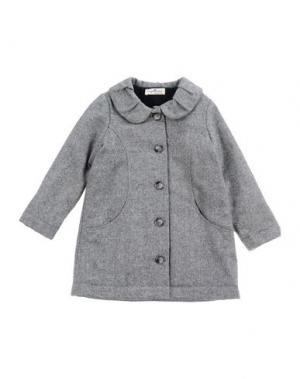 Пальто LE PETIT COCO. Цвет: серый