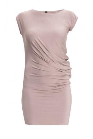 Трикотажное платье 154287 Project4friends. Цвет: бежевый