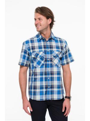 Рубашка Westrenger. Цвет: синий, темно-синий