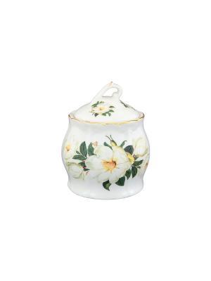 Горшочек для меда Белый шиповник Elan Gallery. Цвет: белый, зеленый