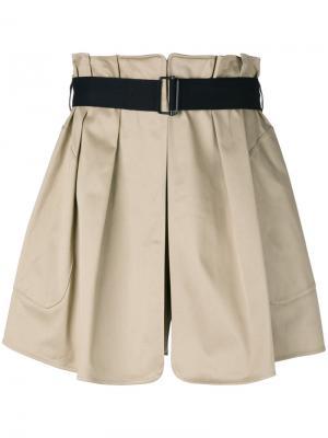 Расклешенные шорты с поясом Rag & Bone. Цвет: телесный