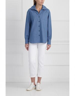 Рубашка MoS. Цвет: синий