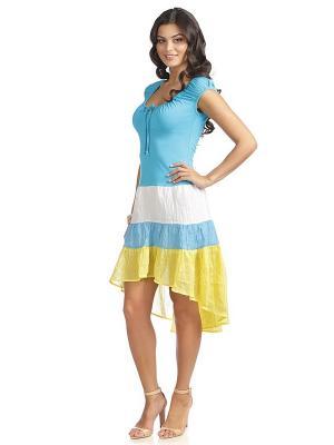 Платье VENUSITA. Цвет: голубой