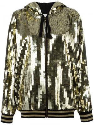 Sequins embellished bomber jacket Faith Connexion. Цвет: металлический