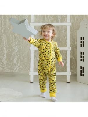 Пижама Bambinizon. Цвет: светло-коричневый