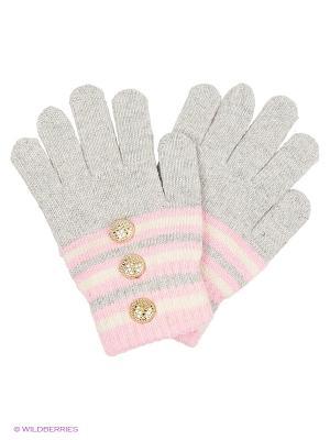 Перчатки Shapkoff. Цвет: серый, бледно-розовый