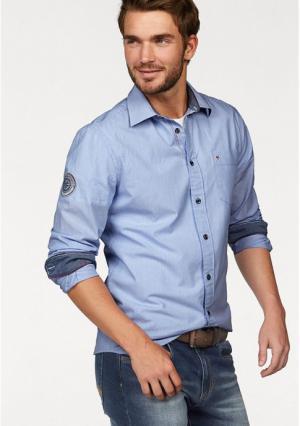 Рубашка Rhode Island. Цвет: голубой/белый в полоску