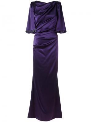 Платье Kortney Talbot Runhof. Цвет: розовый и фиолетовый