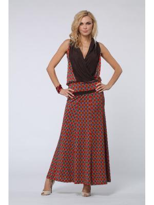 Блузка KATA BINSKA. Цвет: коричневый, бордовый