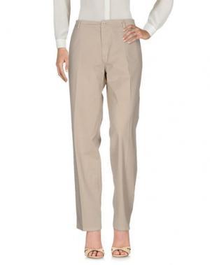 Повседневные брюки YUKO. Цвет: бежевый