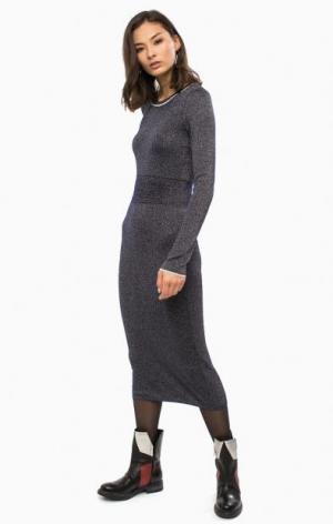 Трикотажное платье с длинными рукавами Patrizia Pepe. Цвет: синий