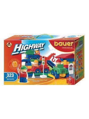 Конструктор Bauer серии Автодорога 323 эл. (в коробке) 3/3. Цвет: оранжевый