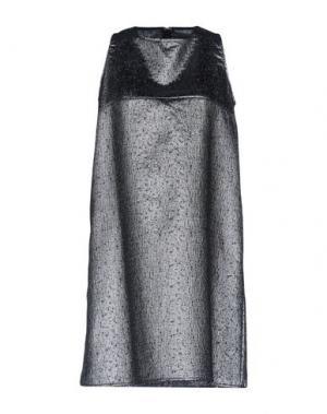 Короткое платье LA FABRIQUE. Цвет: серебристый