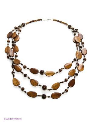 Ожерелье ГАНГ. Цвет: коричневый