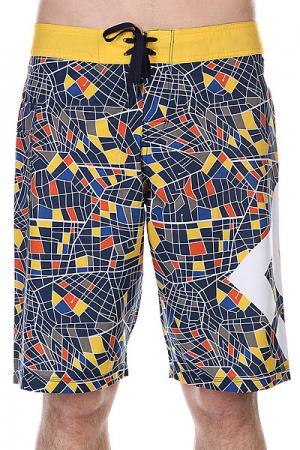 Шорты пляжные DC Lanai 22 Map Ind Shoes. Цвет: синий,желтый