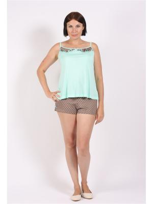 Пижама COTTONLAB. Цвет: салатовый