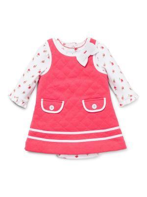 Комплект из 2-х предметов Камелия Little Me. Цвет: розовый, белый